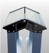 Двухсторонняя стремянка, анодированное покрытие Krause SePro D
