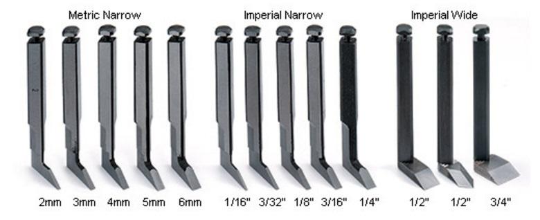 прямые и стреловидные ножи для грунтубеля Veritas из высокоуглеродистой стали