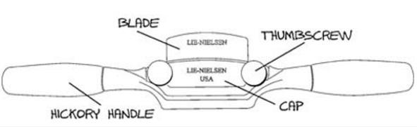 Стружок 254 мм с плоской колодкой Lie-Nielsen Flat Boggs Shave М00006347 LN 1-SP-BOGGS-F