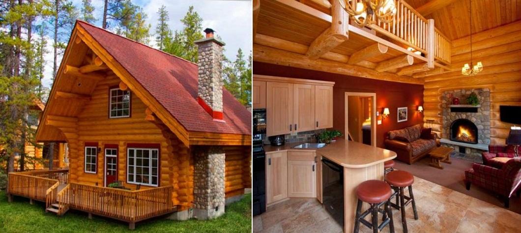 Небольшие дома внутри и снаружи