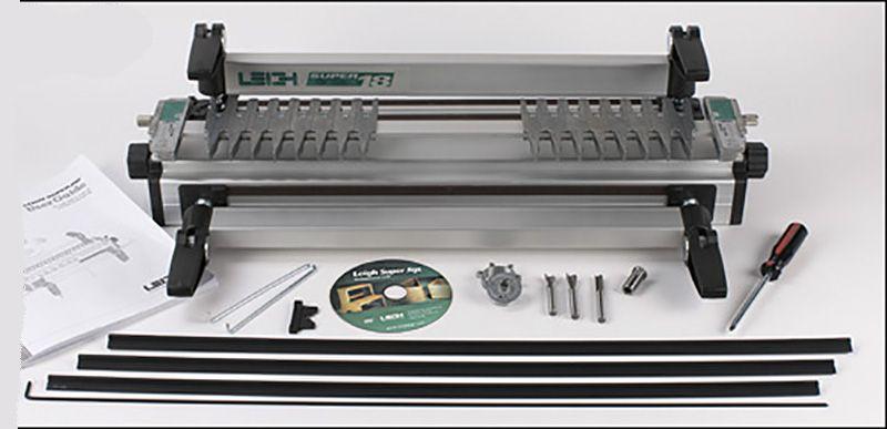 Профессиональная шипорезка Leigh SuperJig12M  300 мм с устройством пылеудаления, поддержки фрезера и набором фрез