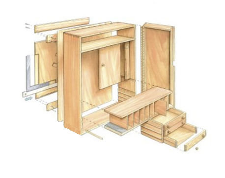 план подвесного инструментального ящика