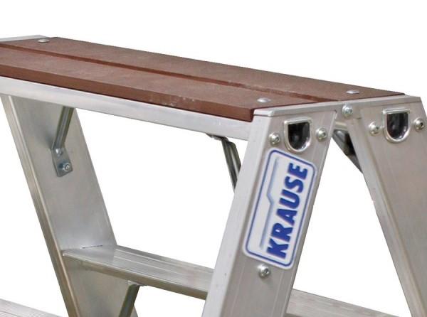 Двухсторонняя лестница-стремянка с деревянной площадкой Krause Stabilo 2х4