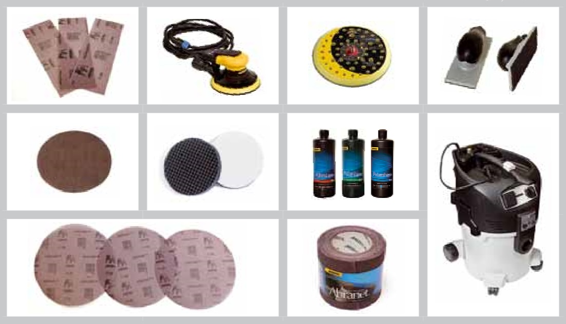 шлифовальная система Абранет состоит из промышленных пылесосов, шлифовальных машин, дисковподошв и шлифовальных блоков