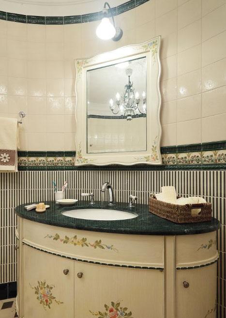 ванная в кантри-стиле