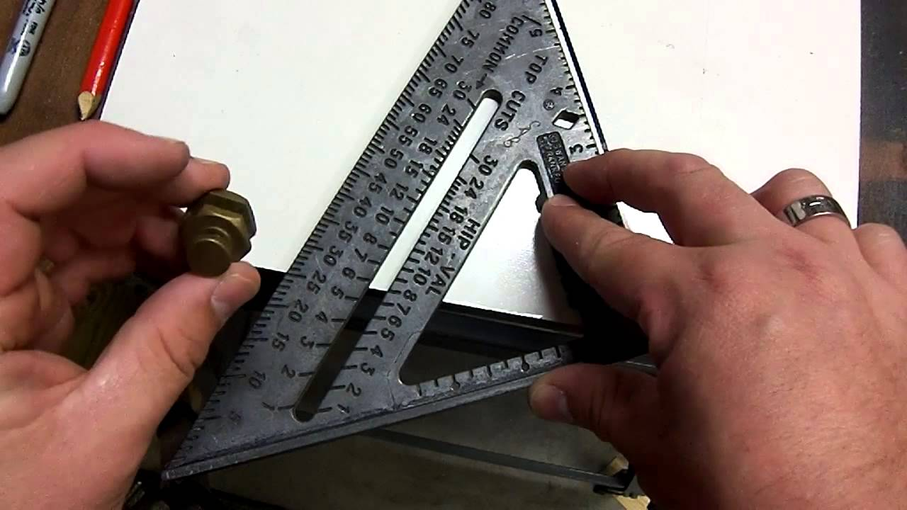 Угольник Swanson Свенсон Speed Square 250 мм метрический для плотника и столяра