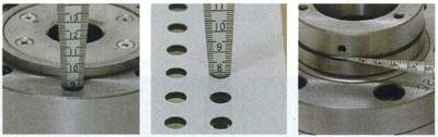 Линейка конусная с линейкой 150 мм, Shinwa для определения диаметров отверстий от 0 до 15 мм Sh 62612