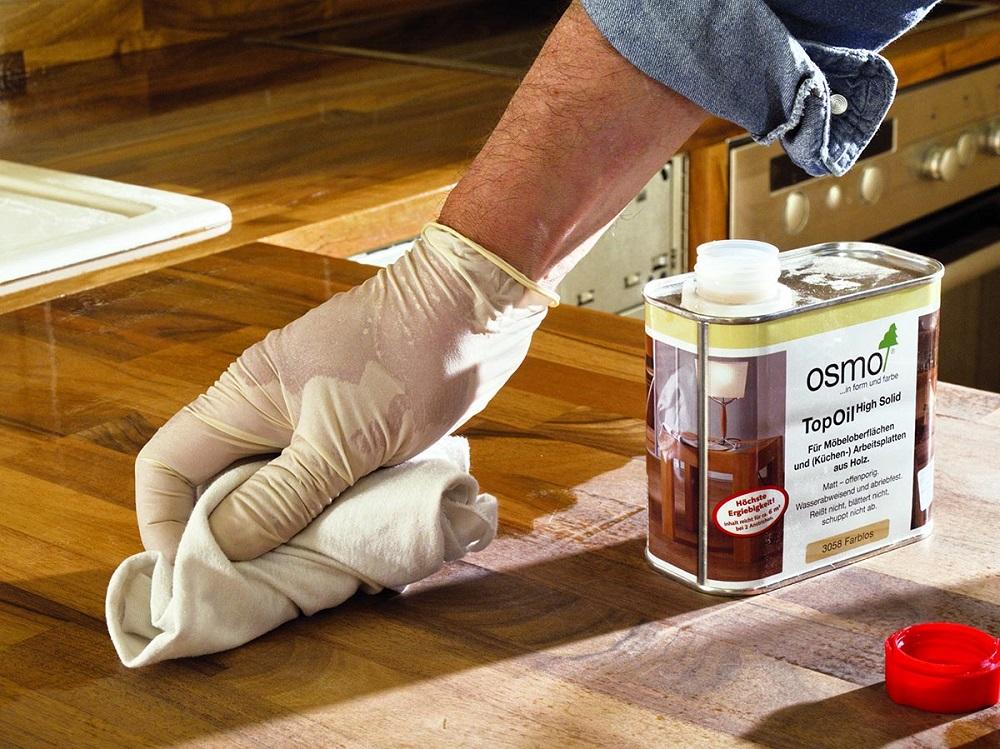 Масло с твердым воском TOPOIL для мебели и столешниц Osmo 3058 матовое