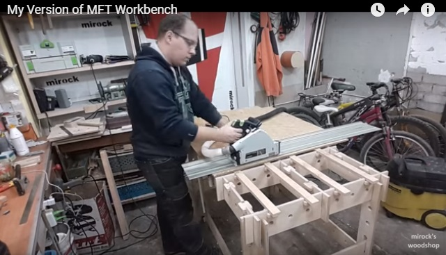 Еще один интересный вариант ячеистого верстака от mirock's woodshop