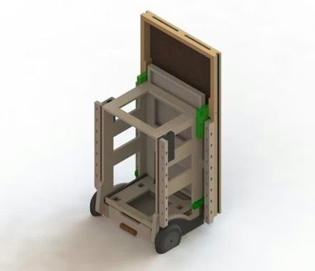 3D схема и чертеж стола: