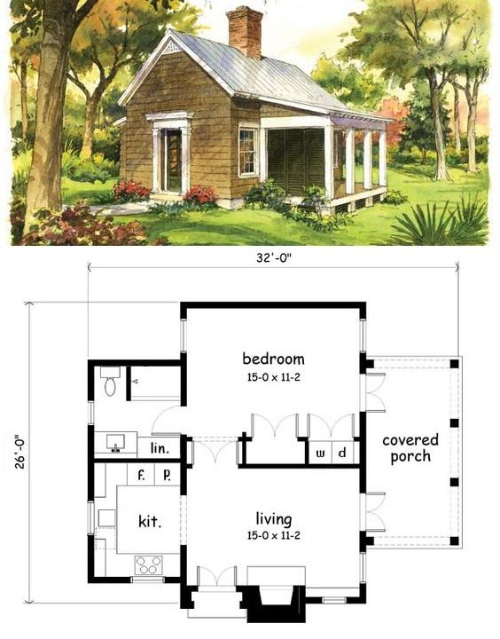 Планировки и схемы небольших домов