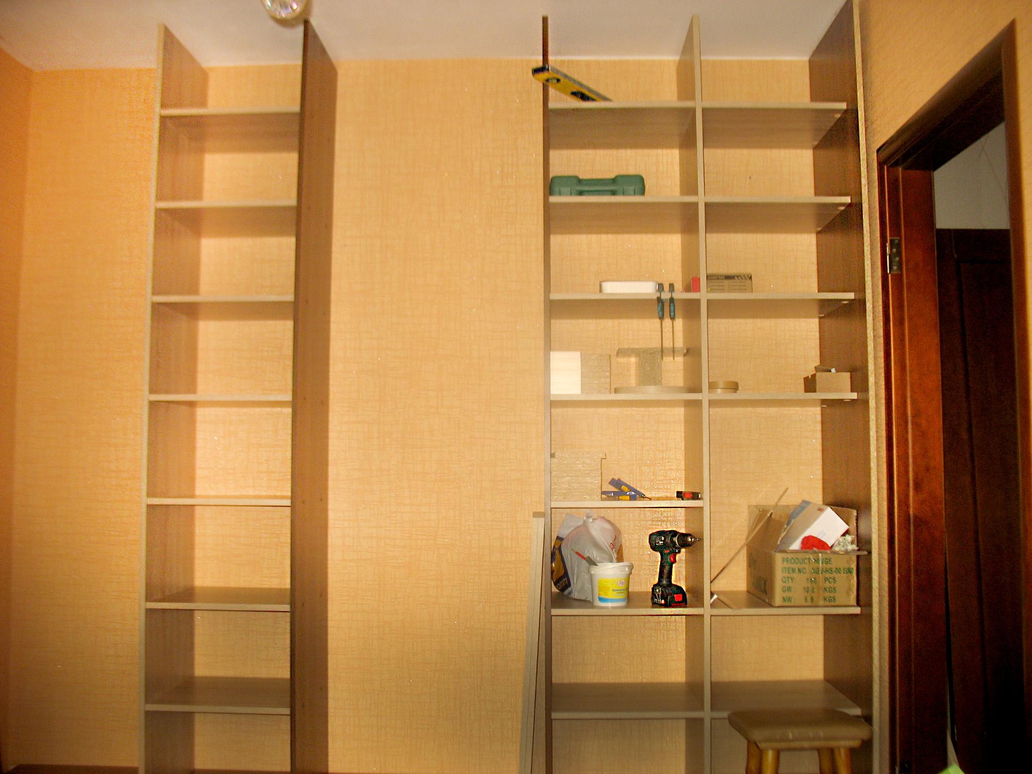 Встроенный шкаф-купе своими руками: как сделать, чертежи 34