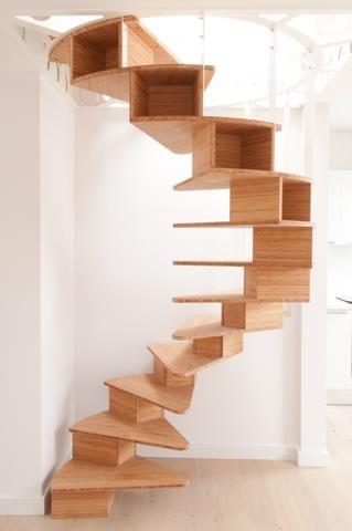 Деревянные модульные лестницы могут быть набраны из плоских типовых элементов