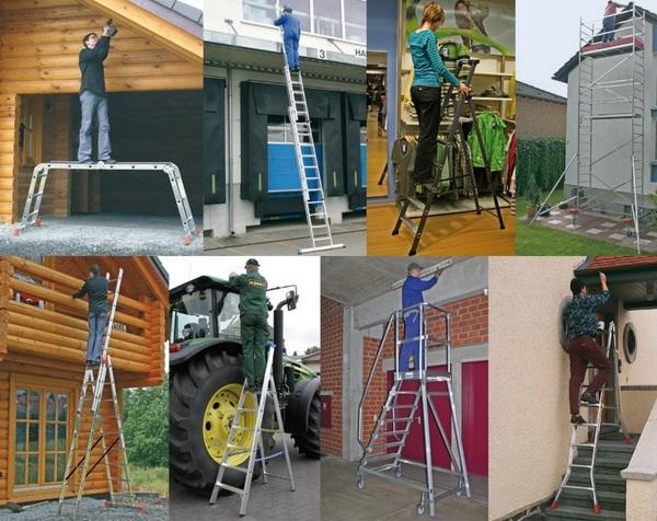 области применения лестниц