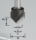 Фреза для выборки V- образного паза HW с хвостовиком 8 мм