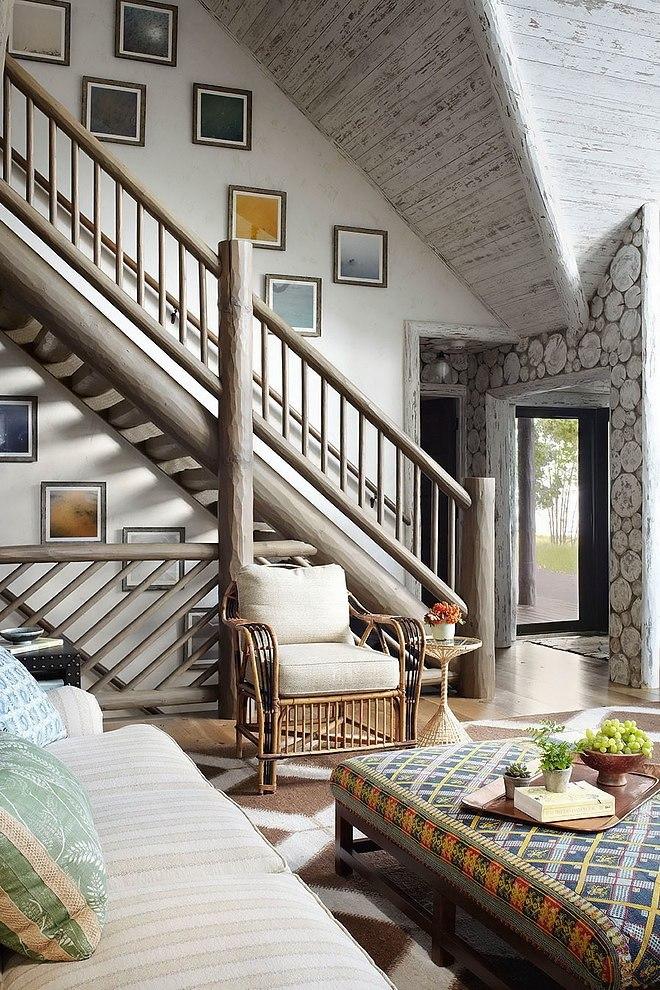 загородный деревянный дом