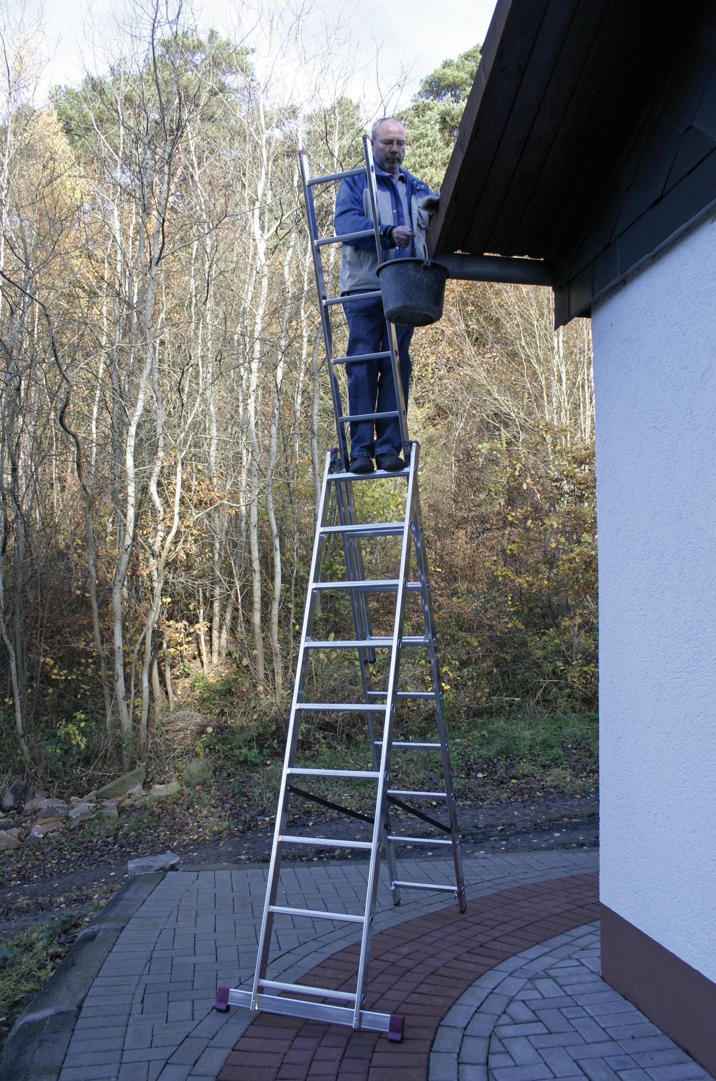 краузе лестница алюминиевая