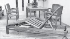 обработка маслом садовой мебели