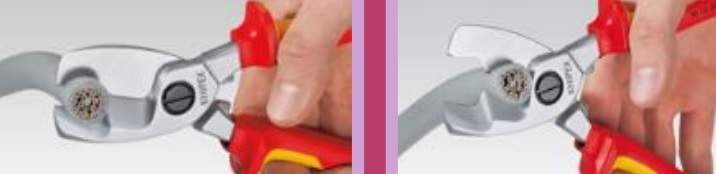 Ножницы для резки кабелей (КАБЕЛЕРЕЗ) с двойными режущими кромками KNIPEX  95 16 200