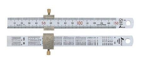 Упор для линейки шириной 15 мм (15 см) Shinwa