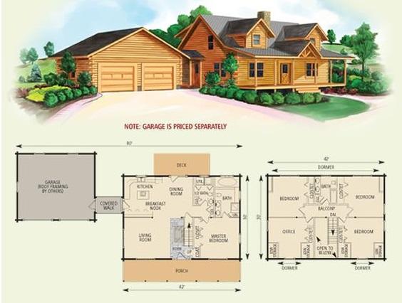 Схема дома со встроенным гаражом