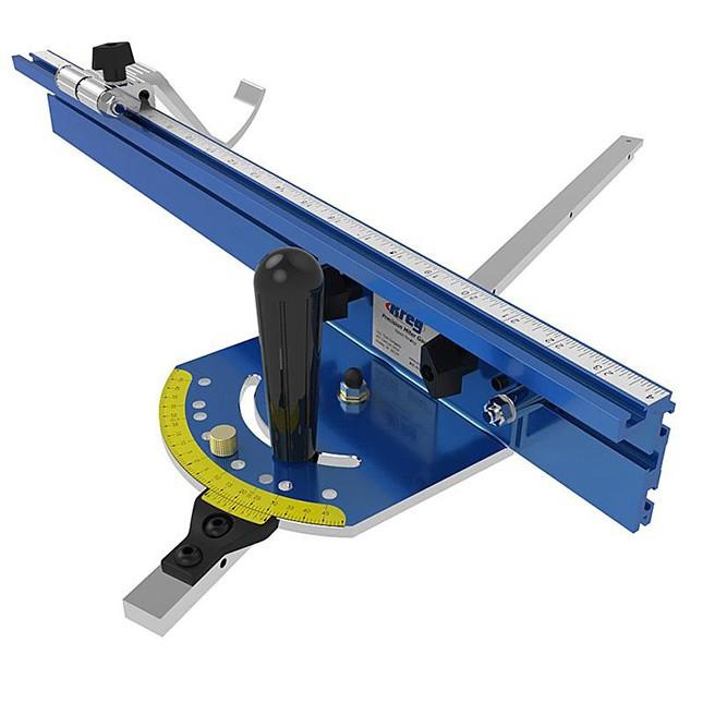 Кроме бокового упора столешница может оснащаться профилями для установки углового упора