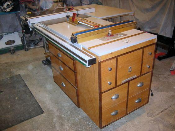фрезерный стол многофункциональным, универсальным совмещенным с верстаком , стационарной пилой