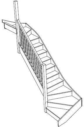 Лекальная и П-образная лестница