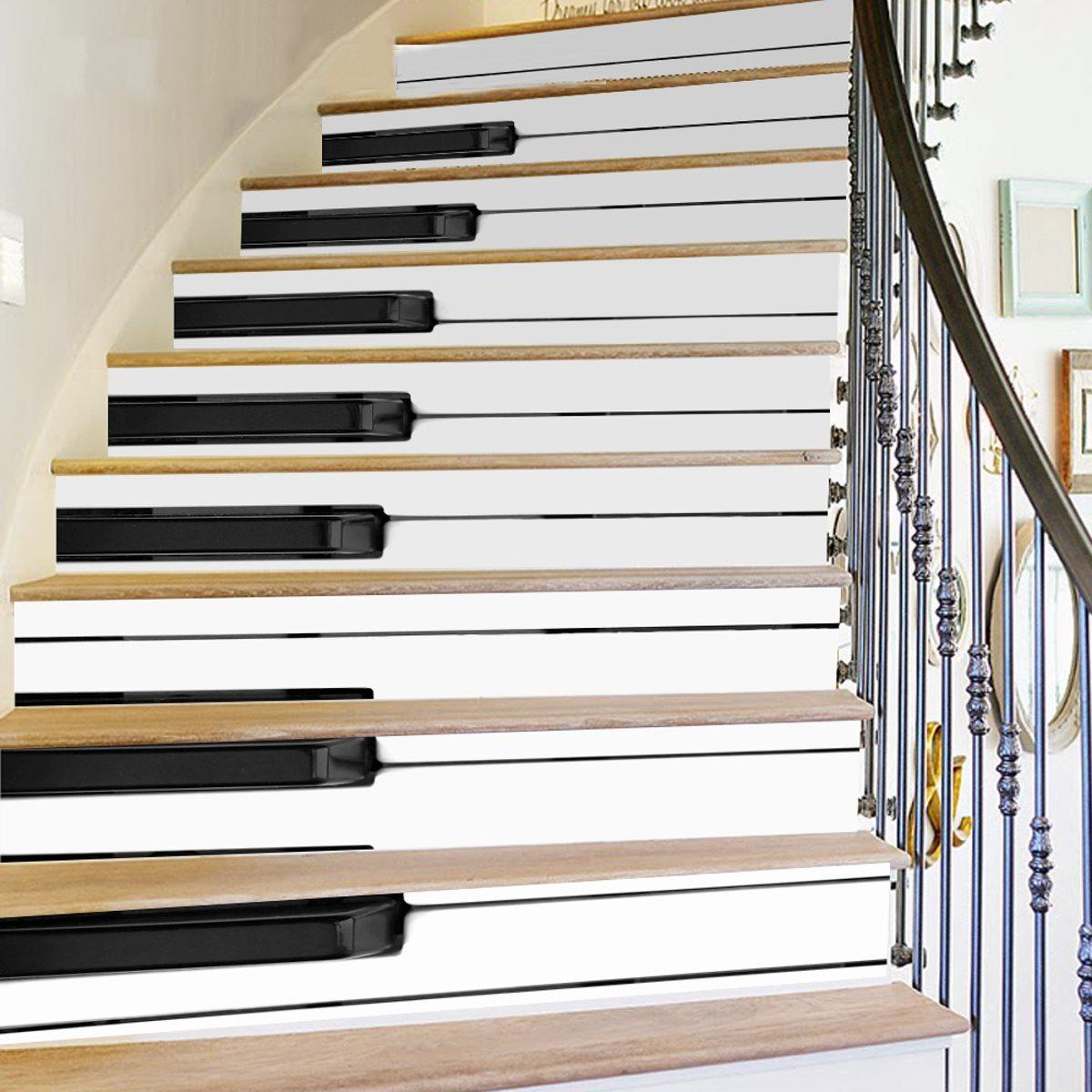оригинальные варианты оформления подступенков лестниц