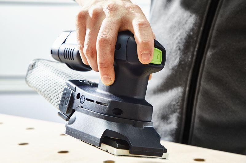 Аккумуляторная шлифмашинка FESTOOL Rutscher RTSC 400 Li-Basic Новинка 2017 года!  Эргономичная аккумуляторная шлифовальная машинка Rutscher для работы одной рукой