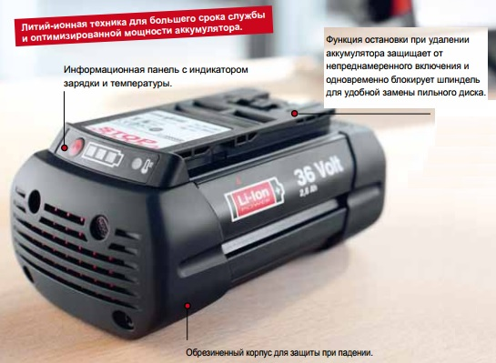 36 в литий-ионный аккумулятор мафелл