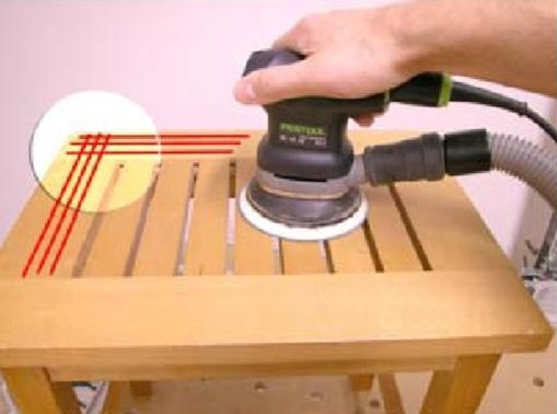 шлифование стыков деревянных поверхностей