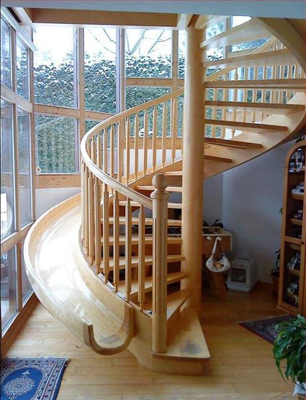 лестница с горкой для детей