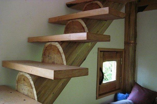 идея деревянной лестницы