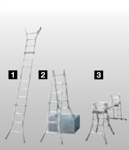 Шарнирная телескопическая лестница - стремянка Krause STABILO, с удлинителями боковин