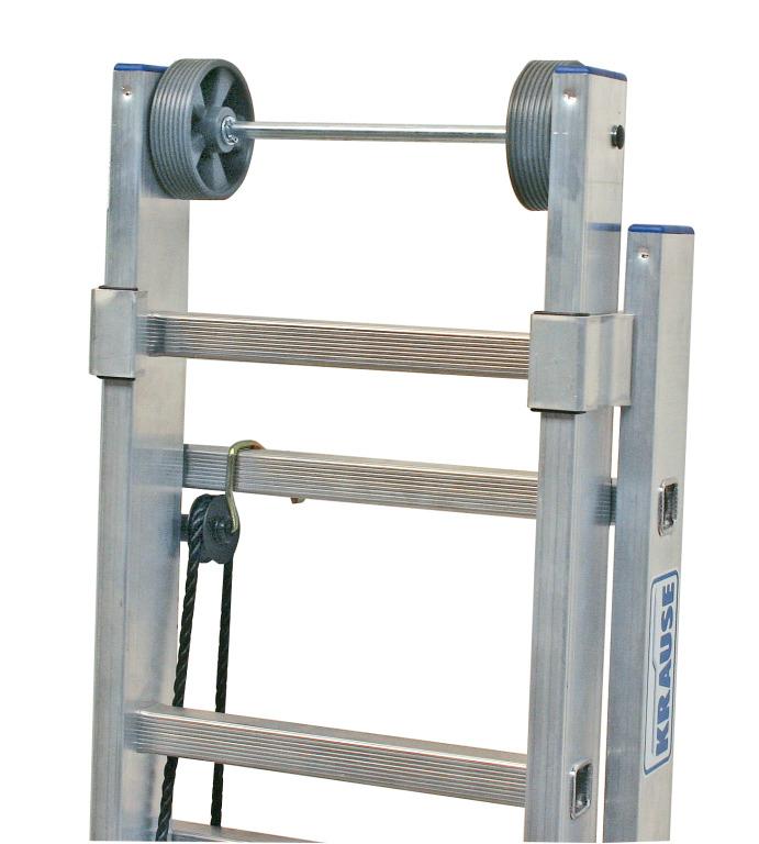 Двухсекционная лестница с перекладинами, выдвигаемая тросом Krause Stabilo