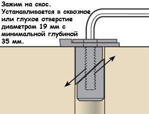 Верстачный упор с эксцентриковым поджимом Veritas Bench Blade Wedge-Lock 05G2212