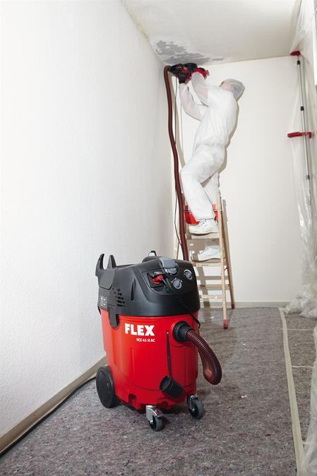 Безопасный пылесос FLEX VCE 45 H AC 230/CEE с автоматической очисткой фильтра, 45 л, класс H