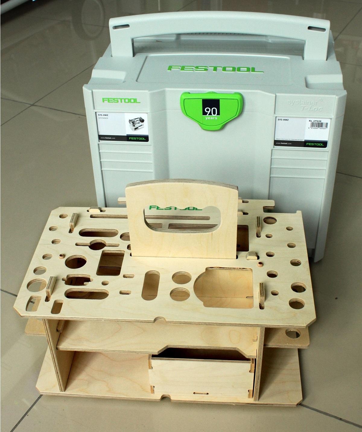 Систейнер с вкладышами Festool для хранения ручного инструмента T-LOC SYS-HWZ