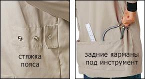 Куртка для токарных работ Lee Valley Turner's Smock 67K20.04, размер L