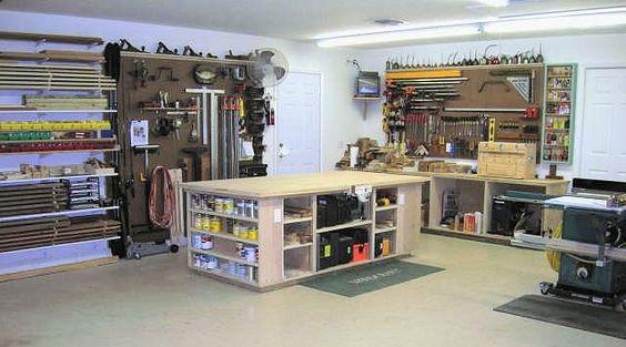 Кто-то превращает гараж в столярную Мастерскую