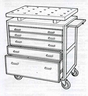 План-схема с чертежами ящика