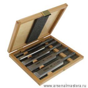 Набор стамесок механических (долот) с зажимным захватом SDS+ Narex 5 шт в деревянном кейсе 8539 01