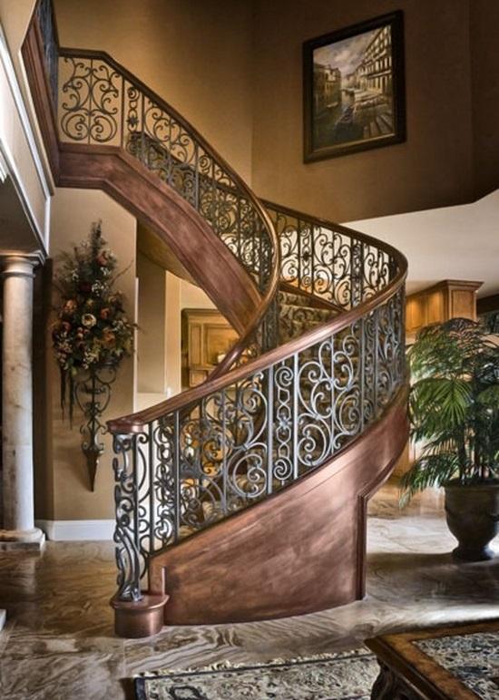 Кованные ограждения лестниц