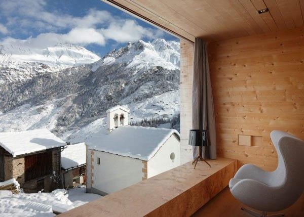 деревянный дом в швейцарии