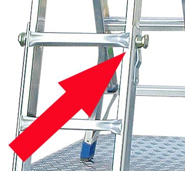 Шарнирная телескопическая лестница - стремянка Krause STABILO