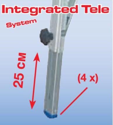 Шарнирная телескопическая лестница - стремянка