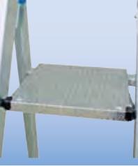 Односторонняя передвижная алюминиевая лестница - стремянка с траверсой Krause Stabilo