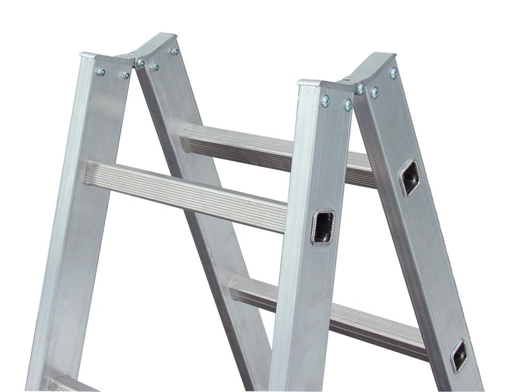 Двусторонняя лестница-стремянка с перекладинами Krause Stabilo