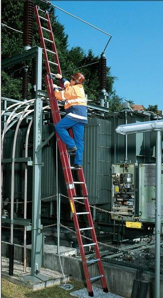 Диэлектрическая раздвижная лестница Krause Stabilo, вытягиваемая тросом
